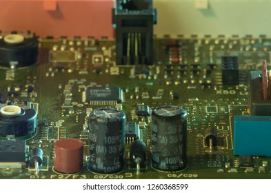 soldering courses. microelectronics engineering and technology concept. technician or student repairing electronic component