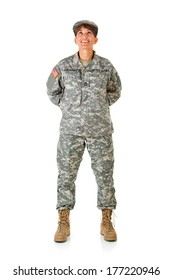 Soldier: Female Standing At Ease
