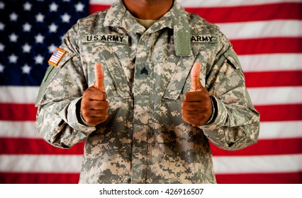 Soldier: Giving a Thumbs Up