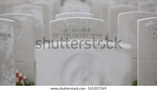 A soldier of the great war - Tyne Cot - Belgium