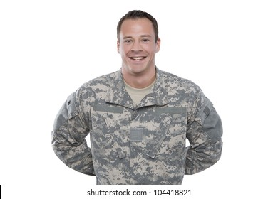 Soldier Standing at Parade Rest