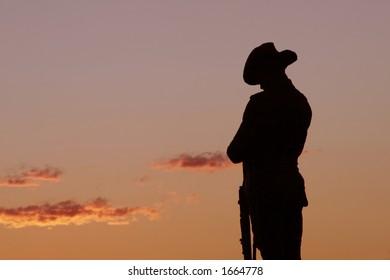 Soldier Statue, Evening Light, Sydney, Australia