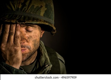 Soldier Suffering PTSD / Bereavement