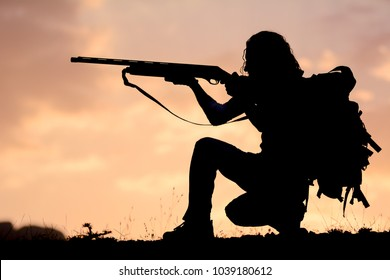 soldier target shooting position