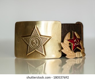 Soldier's belt and badge