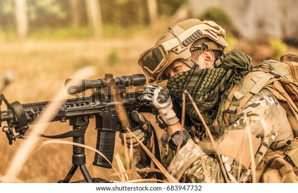 Soldiers Fighting Battle Stock Photo (Edit Now) 683947732
