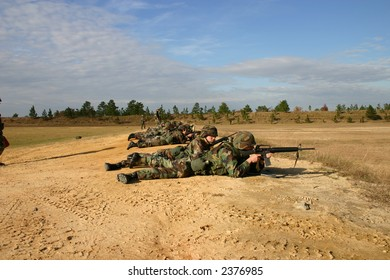 Soldiers at Military Rifle Range