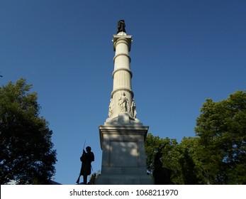 Soldiers' and Sailors' Monument, Boston Common, Boston, Massachusetts, USA