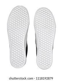 sole of cloth shoe isolated on white background with clipping path