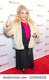 Solecito Vazquez attends INFOList.com Red Carpet Re-Launch Party & Holiday Extravaganza! at SKYBAR at the Mondrian Hotel, Los Angeles, California on December 5th, 2018