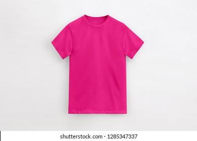 Solid Basic T-Shirt fuchsia pink Man unbranded