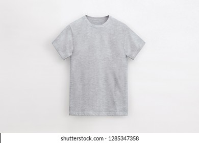 Solid Basic T-Shirt heather grey Man unbranded