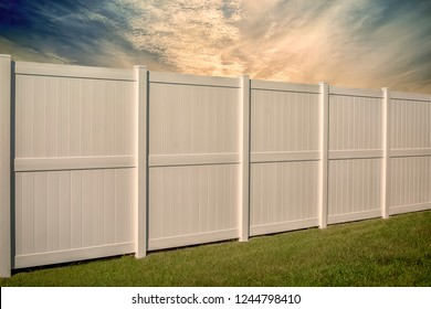 Solid Privacy 8 Foot Vinyl Fence