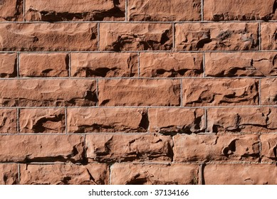 Solid Red Brick Wall with shadow texture.