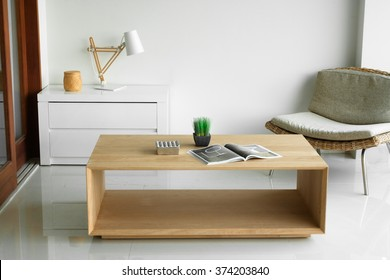 Solid wood designer low table