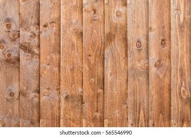 Solid wooden fence, creating a nice clean pattern