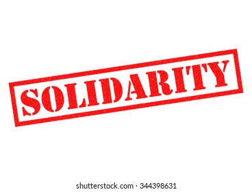 SOLIDARITY red Rubber Stamp over a white background.