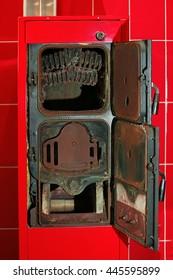 Solid-fuel boiler in the boiler room