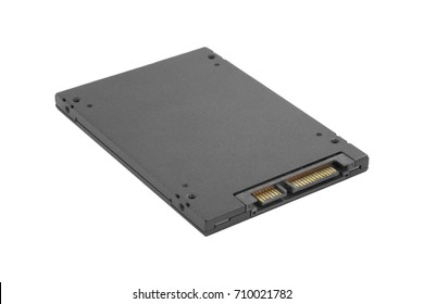 solid-state drive of computer on a white background
