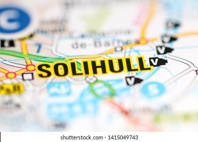 Solihull. United Kingdom on a geography map