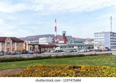 Solikamsk, Russia - September 24, 2018: Solikamsk Potash Mining Administration