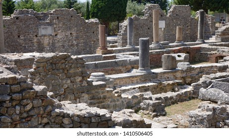 SOLIN, CROATIA - JULY 18, 2018: Salona, near Solin, once capitol of Roman province Dalmatia and birthplace of Rome's Emperor Diocletian, is truly a cradle of Croatian history and monument itself.