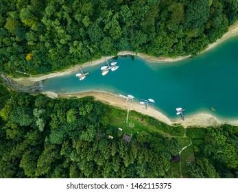 solina bay in Bieszczady mountains  - Shutterstock ID 1462115375