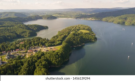 solina lake in bieszczady mountains - Shutterstock ID 1456139294