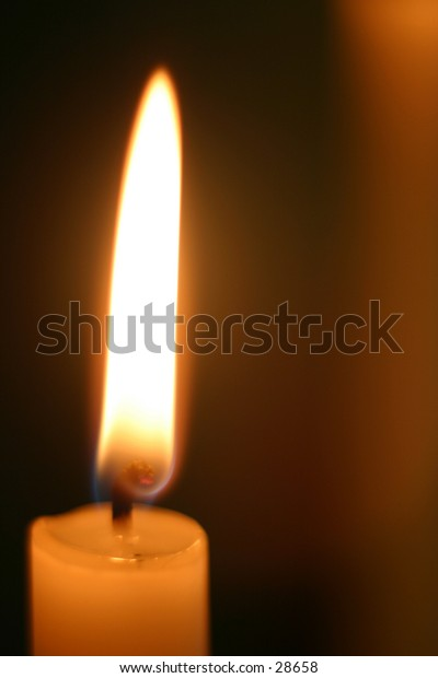 A solitary candle