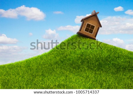 Enjoyable Solitary House On Hill Beautiful Spring Stock Photo Edit Download Free Architecture Designs Scobabritishbridgeorg