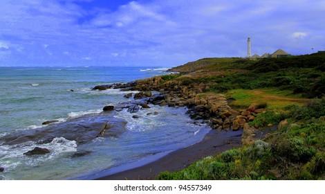 Solitary Lighthouse on Coast of Australia