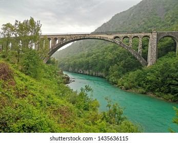 solkan bridge in slovenia river