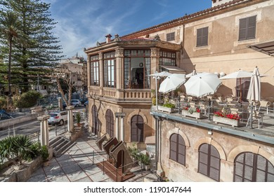 SOLLER,SPAIN-APRIL 15,2013:Traditional building, Soller,Mallorca,Spain.