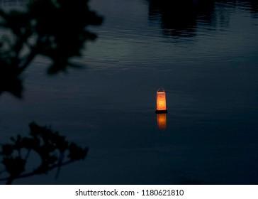 Solo Lantern at Dusk Bon Festival