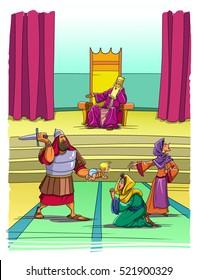 Solomon decided a dispute between two women