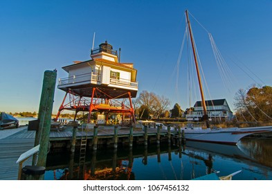 Solomons Island / USA: February 2018; Drum Point Light