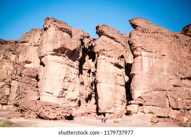 The Solomons Pillars Geological feature from Timna Park Israel