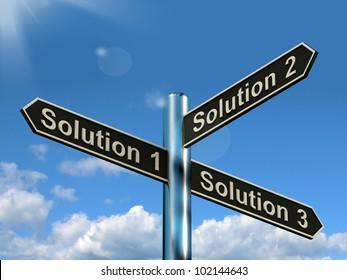 Solution 1 2 or 3 Choice Shows Strategy Options Decisions Or Solving