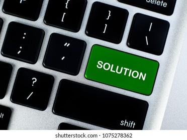 Solution button concept