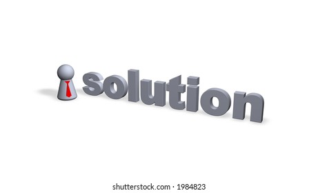solution text in 3d