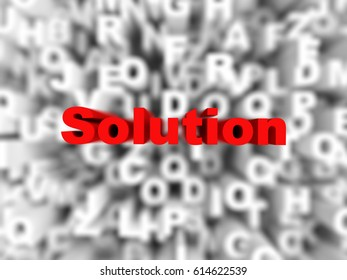 solution word on typography background