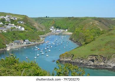 Solva harbor high tide Pembrokeshire Wales
