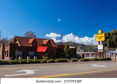 Solvang, USA - February 9 2013: The famous movie location of The Hitching Post from Sideways in Solvang in California, USA