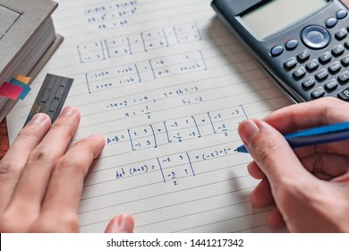 Solving math problem on paper