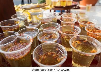 som poi water (Acacia concinna) for Songkran festival
