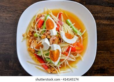Som Tum - papaya salad - spicy Thai food