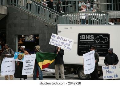Somalian protest against the war (Stockholm, Sweden)