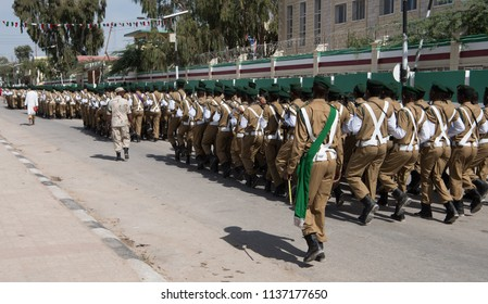 Somaliland yearly military parade. Independence day Somaliland. Celebrating independence from Somalia and United Kingdom.