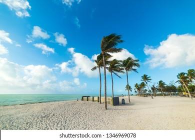 Sombrero Beach in Marathon Key in Southern Florida, USA