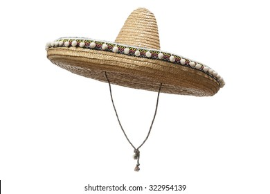 Sombrero Hat isolated on a white background.